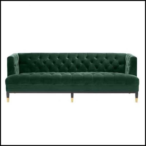 Banc avec structure en bois massif revêtu de cuir véritable gris de haute qualité 154-Grey Leather