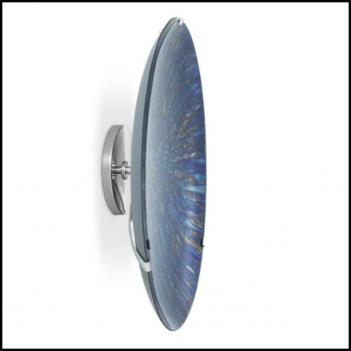 Table d'appoint avec structure en bois de hêtre laqué gris Storm et détails en laiton massif poli 173-Storm Grey