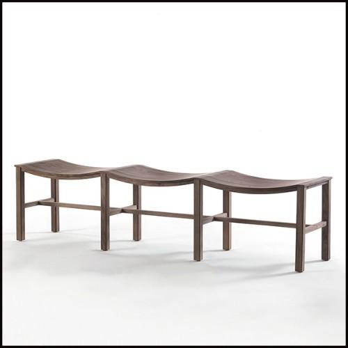 Tabouret avec base en aluminium finition Black et assise en tissu velours turquoise 24-Black Monkey