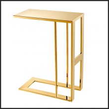 Table d'appoint avec structure en acier inoxydable finition Gold 24-All Gold