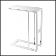 Side table with all the structure in polished stainless steel 24-All Chrome