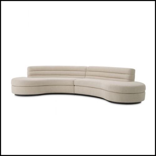 Miroir avec cadre en verre miroir ambré et verre clair 24-Square Amber