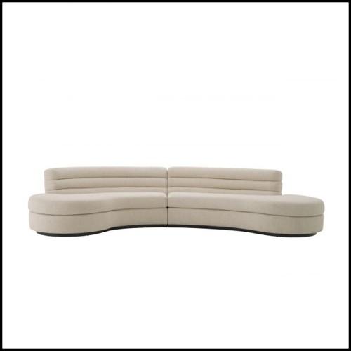 Miroir avec cadre en verre miroir ambré et verre clair 24-Sloan