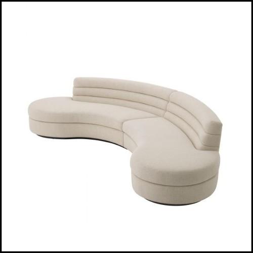 Miroir avec cadre en finition Gold antique et miroir convexe 24-Medina