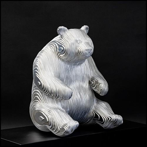 Table basse avec structure en bois de hêtre laqué gris orage et détails en laiton massif poli 173-Storm Grey