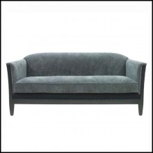 Sofa with high quality velvet fabric and with structure in solid wood 176-Peterson Triple