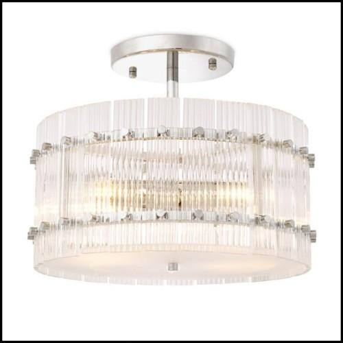 Miroir avec structure en bois d'acacia massif et métal finition bronze vintage 173-Discs