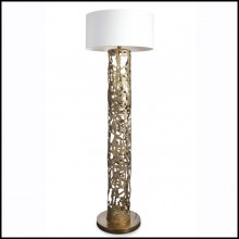 Floor lamp with all base in solid forged bronze 179-Anna