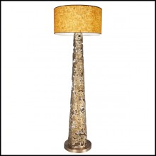 Floor lamp with all base in solid forged bronze 179-Ella