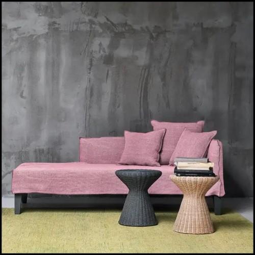 Chaise avec structure en acier finition rouge verte ou naturelle 178-Bundle Lounge