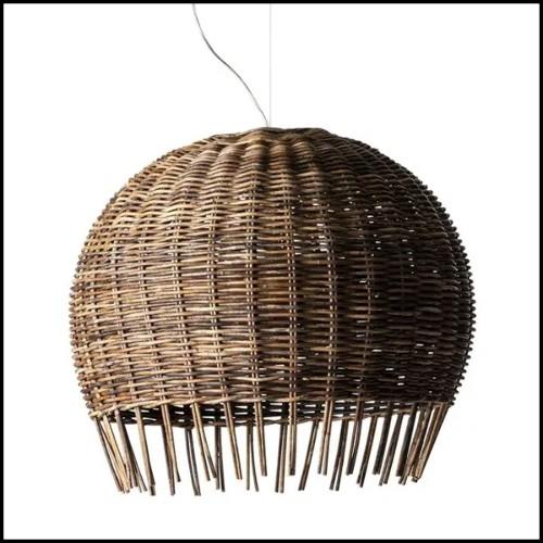 Table basse finition Black or White avec structure en acier et tresse en polyéthylène 178-Hanging Top