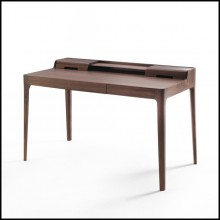 Desk all handcrafted in solid Walnut wood 163-Linea