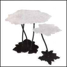 Set de 2 tables en cristal de Baccarat PC-Vine Leaves
