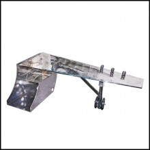Desk in riveted polished aluminium PC-Aircraft Wing