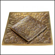 Set of 2 Trays all in solid brass in vintage finish 24-Spotted set of 2