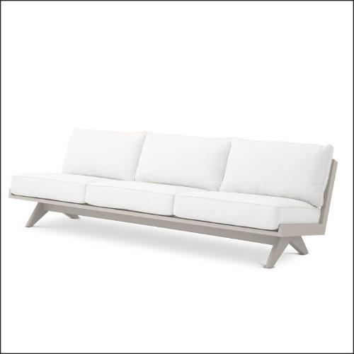Lanterne avec structure en acier inoxydable finition nickel verre clair et anse en cuir de boeuf tané 24-GEORGIAN XL