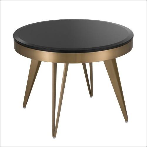 Lanterne avec structure en acier inoxydable finition nickel verre clair et anse en cuir de boeuf tané 24-GEORGIAN M