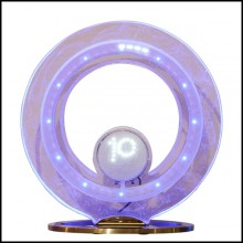 Clock in crystal baccarat with led diodes inside PC-Baccarat Number