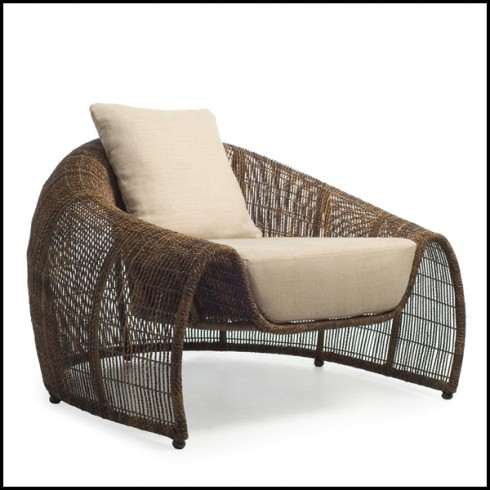 Astounding Armchair Indoor Or Outdoor With Structure In Steel And Bralicious Painted Fabric Chair Ideas Braliciousco