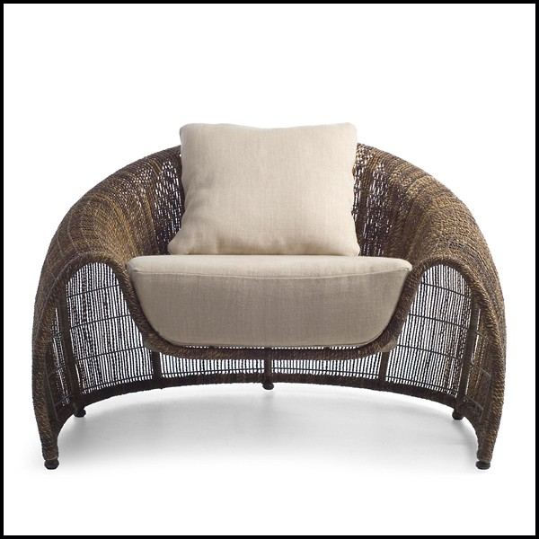 Brilliant Armchair Indoor Or Outdoor With Structure In Steel And Bralicious Painted Fabric Chair Ideas Braliciousco