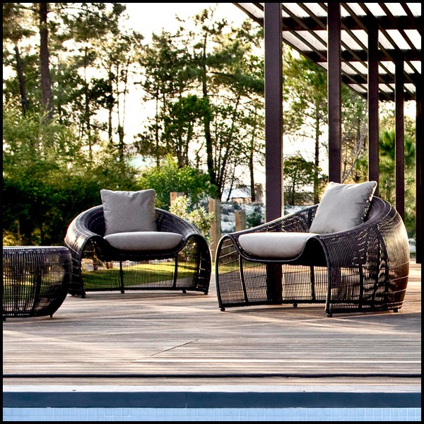 Strange Armchair Indoor Or Outdoor With Structure In Steel And Gmtry Best Dining Table And Chair Ideas Images Gmtryco