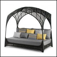 Daybed with structure in steel and polyethylene 178-Hanging