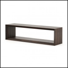 Sideboard with all structure in solid eucalyptus wood in ebony finish 174-Pure TV