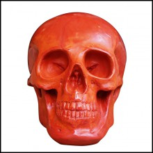 Sculpture in red glass paste PC-Red Skull