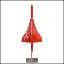 Model Sculpture supersonic aircraft Concorde scale 1/36 in red lacquered finish PC-Concorde Red