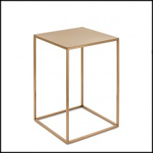 Side Table with structure in satinated metal finish 162-Pure
