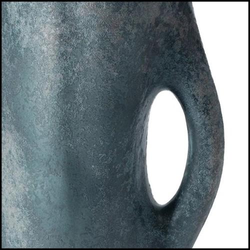 Miroir avec cadre en laiton vintage et avec miroir en verre 146-Cuadro Round