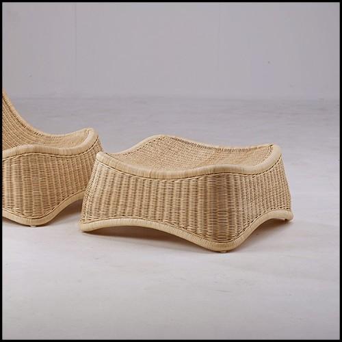 Chaise en hêtre, peau de piraruku, cornes et Bronze 120-Piraruku