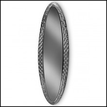 Miroir oval 146 Black Manor