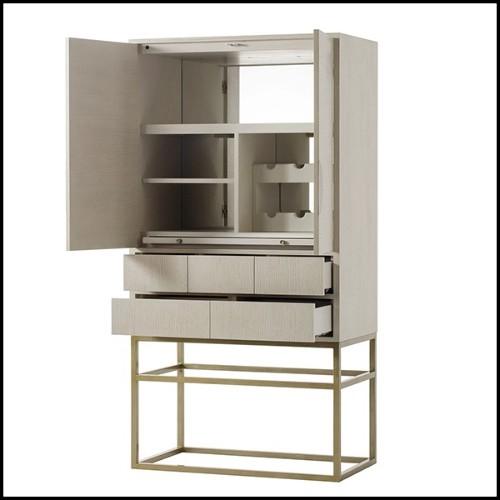 Table à manger plateau en verre teinté,base en métal vernis 146-Lines Table