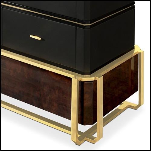 Sculpture de crâne en porcelaine noir 172-Skull Black