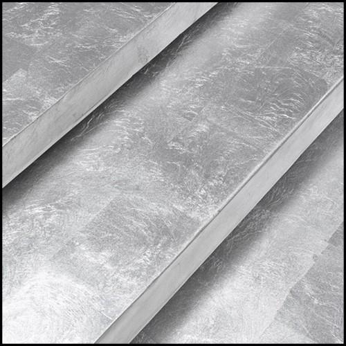Table haute en teck et top en marbre 154-Trooper