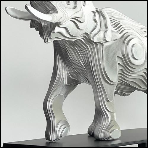 Table à manger en noyer et pieds en acier naturel 154-Walnut  V Shape