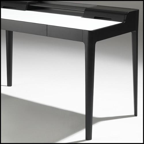 Tabouret de bar en teck et assise en tissus spécial pour l'extérieur 154-Webbing Bar Stool