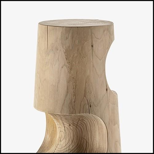 Fauteuil en teck avec assise et dossir  en cuir UTAH 154-Webbing