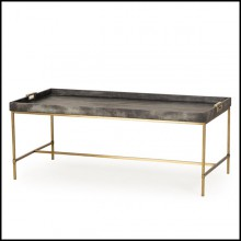 Table basse base en inox  et plateau en MDF paint 173-Charcoal Grey