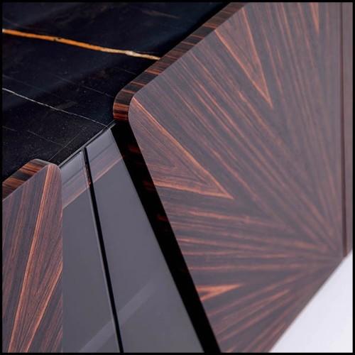 Table basse taillée dans un bloc de cèdre massif naturel 154-Solid Cedar Round