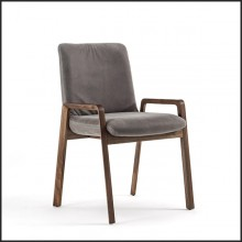 Chair in Solid Walnut Wood 154-Castello