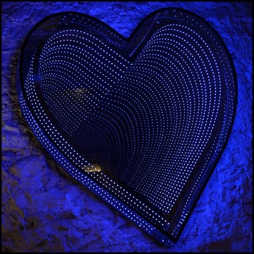 Miroir avec cadre en cuir véritable 150-Floor Smart