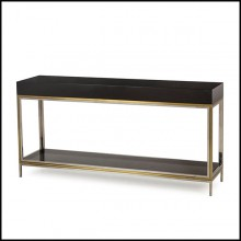Console Table in Black lacquered finish 173-Lacquered Black