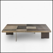 Table basse en bois massif finition bronze 150-Strada Bronze