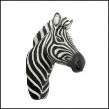 Sculpture in ceramic 162-Zebra Wall Head