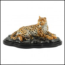 Sculpture en porcelaine 162-Leopard Laying