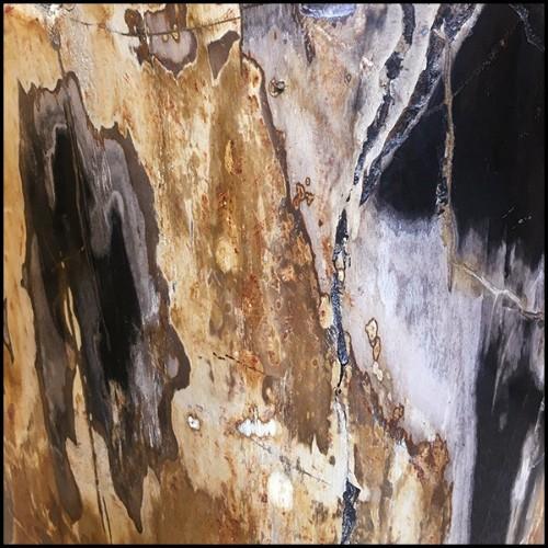 Miroir finitin lacquée noir 119-Serail Oval