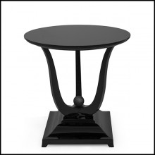 Table d'appoint en acajou massif 119-Tulipe Lacquered