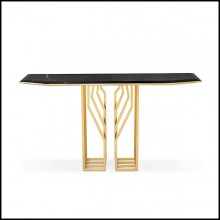 Console Table in Polished Solid Brass 164-Feeler